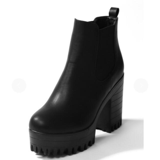 GRL(グレイル)の【新品未使用】厚底サイドゴアショートブーツ グレイル GRL レディースの靴/シューズ(ブーツ)の商品写真
