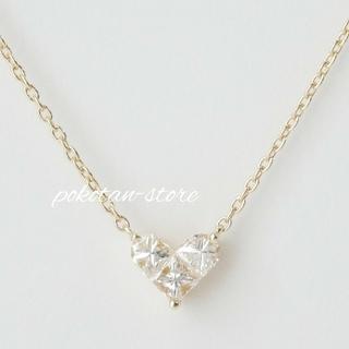 STAR JEWELRY - 美品【スタージュエリー】ミステリアスハート   ダイヤモンド ネックレス
