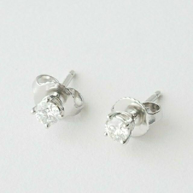 Tiffany & Co.(ティファニー)の美品【ティファニー】Pt950×ダイヤモンド ソリティア ピアス 計0.34ct レディースのアクセサリー(ピアス)の商品写真