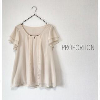 PROPORTION BODY DRESSING - PROPORTION 袖フリルブラウス 半袖 オフィス OL theory