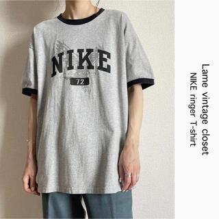 NIKE - 90s 古着 NIKE ナイキ リンガー Tシャツ パンチングプリント