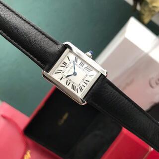 Cartier - タンク ソロ ウォッチ、SM、クォーツムーブメント、スティール、レザー