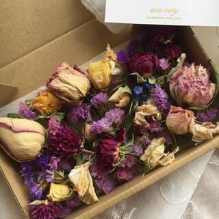 大人気 再販 ドライフラワー 詰め合わせ スターチス 薔薇 花材 ハンドメイド(ドライフラワー)