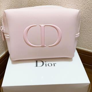Christian Dior - Dior  ノベルティ  ふわふわポーチピンク 箱付き