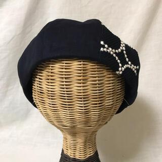 mina perhonen - ミナペルホネンベレー帽Lサイズネイビー