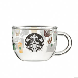 Starbucks Coffee - スターバックス 耐熱グラスマグ スターバックスルーツ マグカップ 25周年