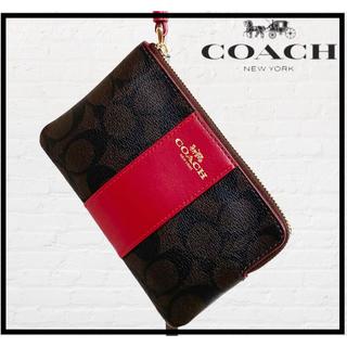 コーチ(COACH)のCOACH コーチ リストレットポーチ/シグネチャー/ポーチ/コイン/カード(ポーチ)