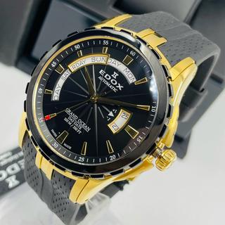 EDOX - 新品 ブラック ゴールドEDOXエドックス グランドオーシャン メンズ 腕時計
