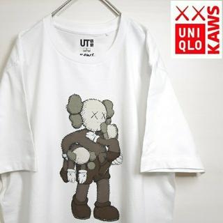 UNIQLO - 【美品】完売品 UNIQLO ユニクロ KAWS コラボ Tシャツ ホワイト L