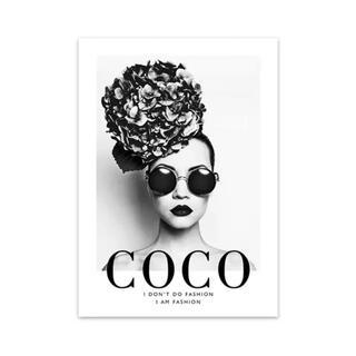 残り2点☆A3 COCO×女性 コットンキャンバス ポスター(アート/写真)