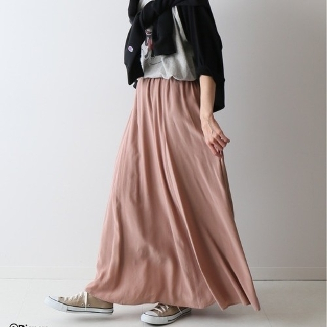 FRAMeWORK(フレームワーク)のいろり様専用✨ 新品タグつき FRAMeWORK 切り替えフレアスカート ピンク レディースのスカート(ロングスカート)の商品写真