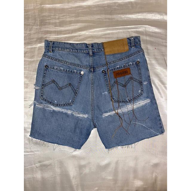 JOHN LAWRENCE SULLIVAN(ジョンローレンスサリバン)のMAGLIANO SS21 Distressed Denim Short メンズのパンツ(デニム/ジーンズ)の商品写真