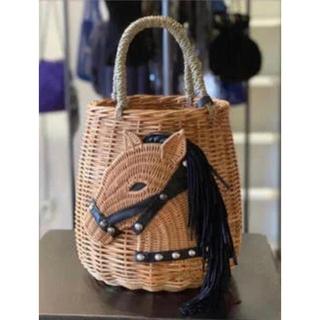ラドロー(LUDLOW)のラドロー LUDLOW ホースバスケット カゴバッグ 完売品(かごバッグ/ストローバッグ)