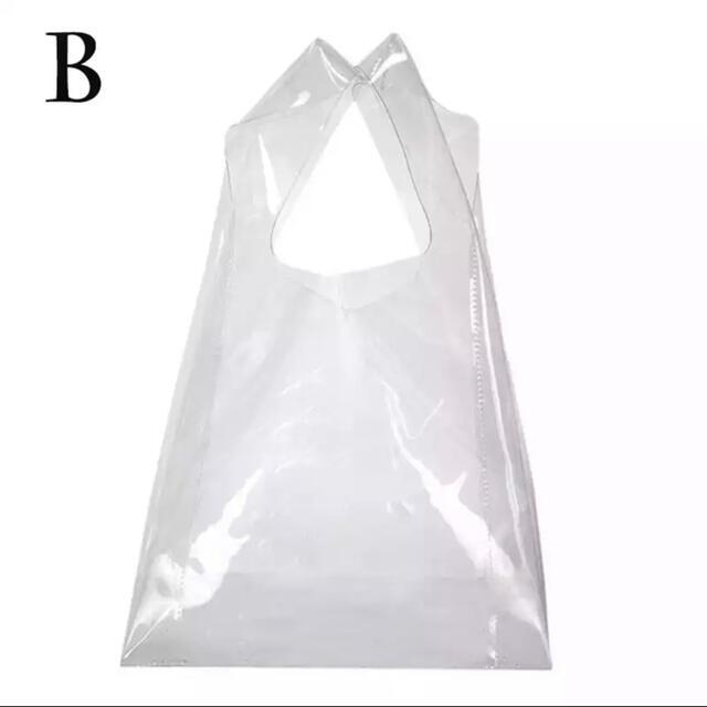 IKEA(イケア)の無地 透明 クリア ビニール バッグ エコバッグ  素材がしっかりしてます! レディースのバッグ(エコバッグ)の商品写真