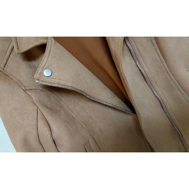 GRL(グレイル)の【未使用品】ライダースジャケット ベージュ GRL グレイル レディースのジャケット/アウター(ライダースジャケット)の商品写真