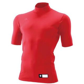 デサント(DESCENTE)の新品タグ付き!DESCENTE デサント半袖リラックスFITシャツ(レッド)(ウェア)
