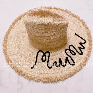 miumiu - miumiu♡ストローハット 麦わら帽子
