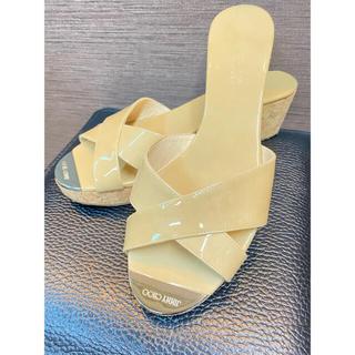 ジミーチュウ(JIMMY CHOO)の[美品]ジミーチュウ  ウエッジソール サンダル♪(サンダル)
