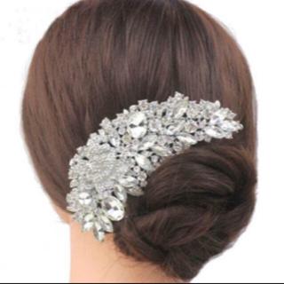 ヘッドドレス 髪飾り ブライダル ボンネ(ヘッドドレス/ドレス)