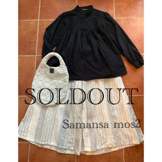 SM2 - Samansa Mos2サマンサモスモス 黒ブラウス