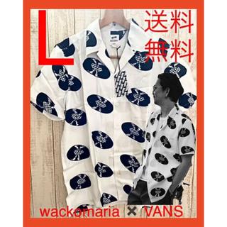ワコマリア(WACKO MARIA)の【L】ワコマリア×vans ハワイアンシャツ レコード ホワイト(シャツ)