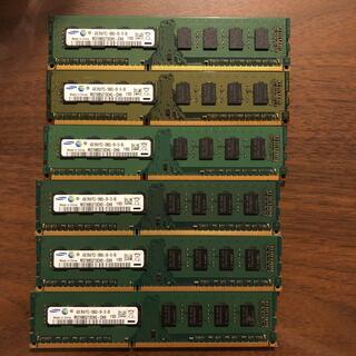 SAMSUNG - メモリ サムスン PC3 4gb 6枚
