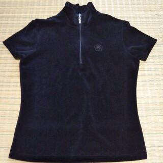 クレイサス(CLATHAS)のクレイサス ベロア ポロシャツ ブラック(Tシャツ(半袖/袖なし))