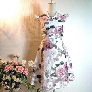 dazzy store - dazzy store☆透かし生地バラ柄ワンピース大きいサイズ