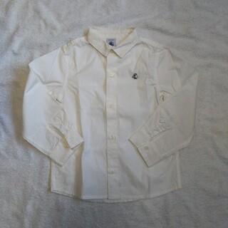 プチバトー(PETIT BATEAU)のプチバトー コットン 白 シャツ 104  フォーマル(ブラウス)