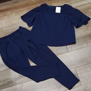 (新品)パンツスーツ セットアップ ネイビー