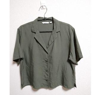 UNIQLO - UNIQLO リネンブレンド オープンカラーシャツ