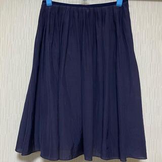 ロペ(ROPE)のROPE  シフォンフレアースカート 日本製(ひざ丈スカート)