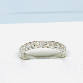 新品 Pt950 ダイヤモンド ハーフエタニティリング D:0.50ct(リング(指輪))
