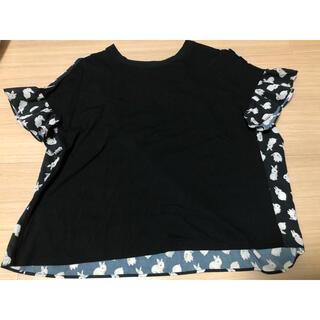 franche lippee - うさぎ Tシャツ クロ フランシュリッペ M