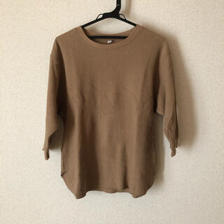 ユニクロ(UNIQLO)のユニクロ UNIQLO ワッフルT 五分袖 難あり(Tシャツ(長袖/七分))
