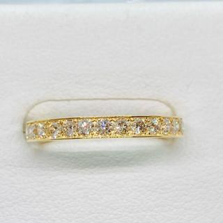 新品 K18YG ダイヤモンド ハーフエタニティリング D:0.50ct(リング(指輪))