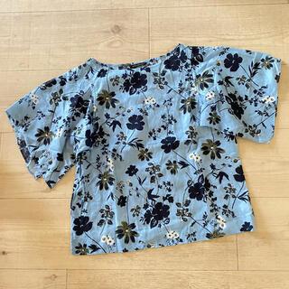 バンヤードストーム(BARNYARDSTORM)の美品 バンヤードストーム 花柄 トップス ブラウス(シャツ/ブラウス(半袖/袖なし))