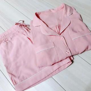 GU パジャマ ルームウェア ピンク 半袖半ズボン