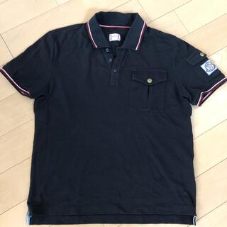 MONCLER - 美品 国内正規品 モンクレール ガムブルー ポロシャツ