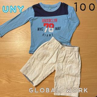 グローバルワーク(GLOBAL WORK)のグローバルワーク ハーフパンツ ロンT 100(Tシャツ/カットソー)
