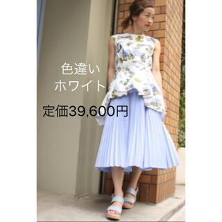 ENFOLD - 滝沢眞規子着 定価39,600円 ENFOLD スパンブロードプリーツスカート