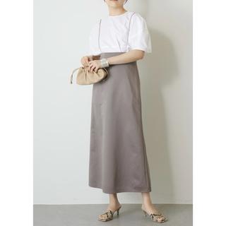 ドゥーズィエムクラス(DEUXIEME CLASSE)の2021SS ウィムガゼット ナイロンサテンサスペスカート 今季美品 36(ロングスカート)