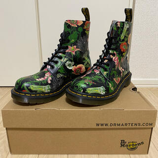 Dr.Martens - 1460 PASCAL WB UK4 花柄ブーツ