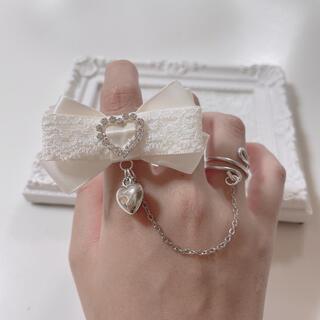 ハンドメイド リボン 量産型 指輪 リング