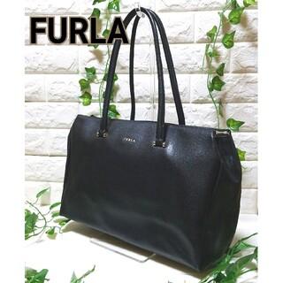 Furla - 美品 FURLA フルラ レザー トートバッグ ハンドバッグ A4 黒