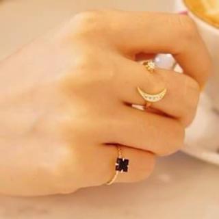 月&星☆ゴールドリング(リング(指輪))