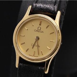 オメガ(OMEGA)の【正規品】オメガ デビル ゴールド文字盤 スイス製 クォーツ レディース 腕時計(腕時計)