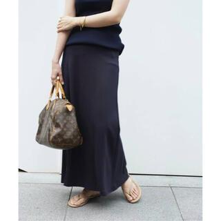 ドゥーズィエムクラス(DEUXIEME CLASSE)のDeuxieme Classe Jerseyフレアスカート ネイビー 新品タグ付(ロングスカート)