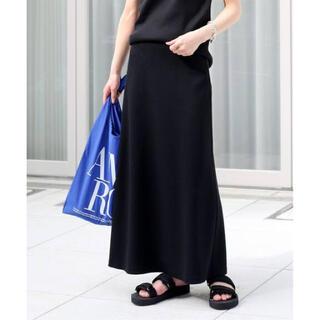 ドゥーズィエムクラス(DEUXIEME CLASSE)のDeuxieme Classe Jerseyフレアスカート ブラック 新品タグ付(ロングスカート)