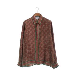 グッチ(Gucci)のCASABLANCA カサブランカ モノグラム シルク シャツ Mサイズ(シャツ)